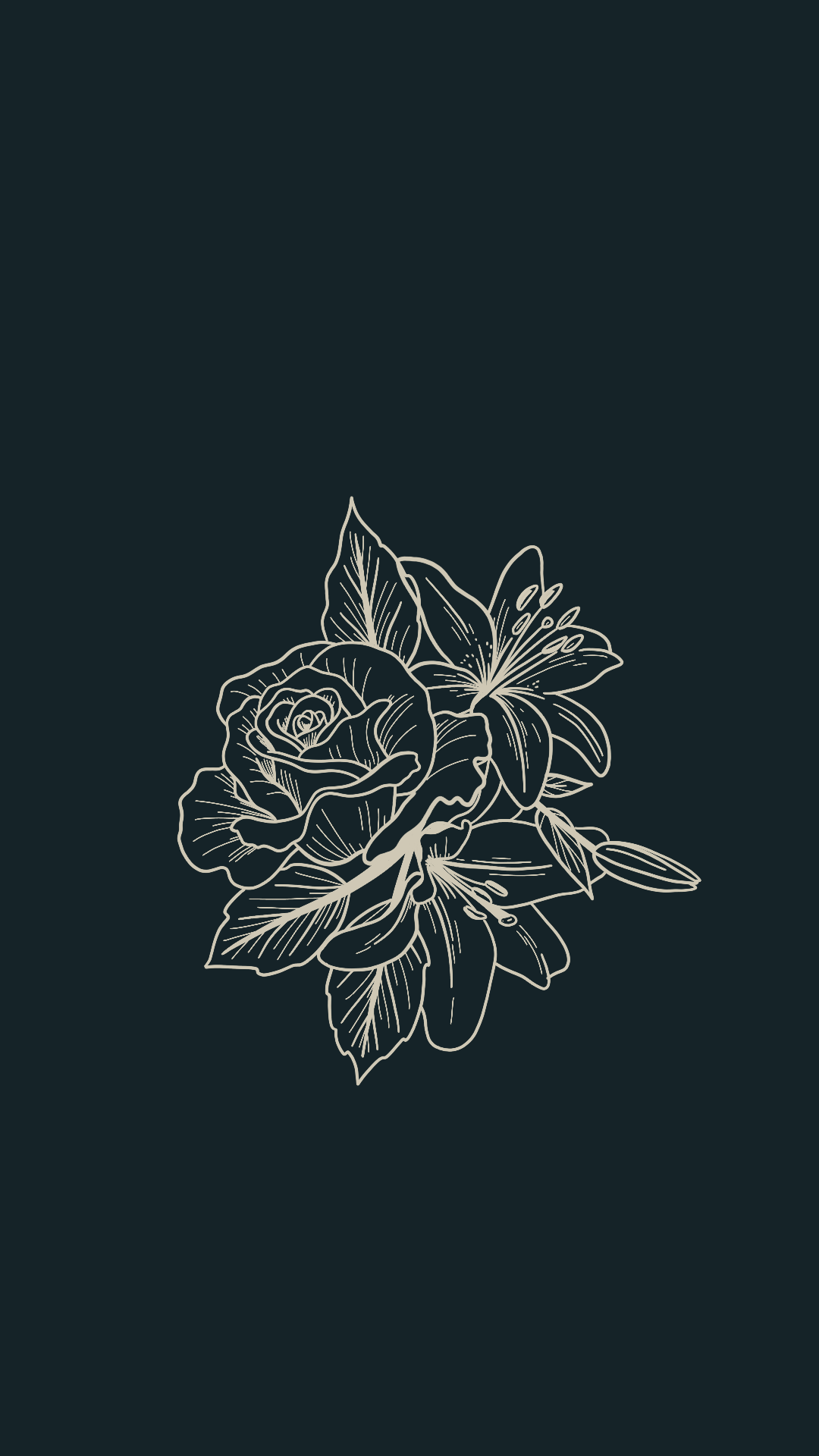 Tattoo Design Inspiration Line Arbeit Blumen Rose Pfingstrose Taglilien Laub Monoline In 2020 Floral Illustrations Trendy Tattoos Aesthetic Iphone Wallpaper