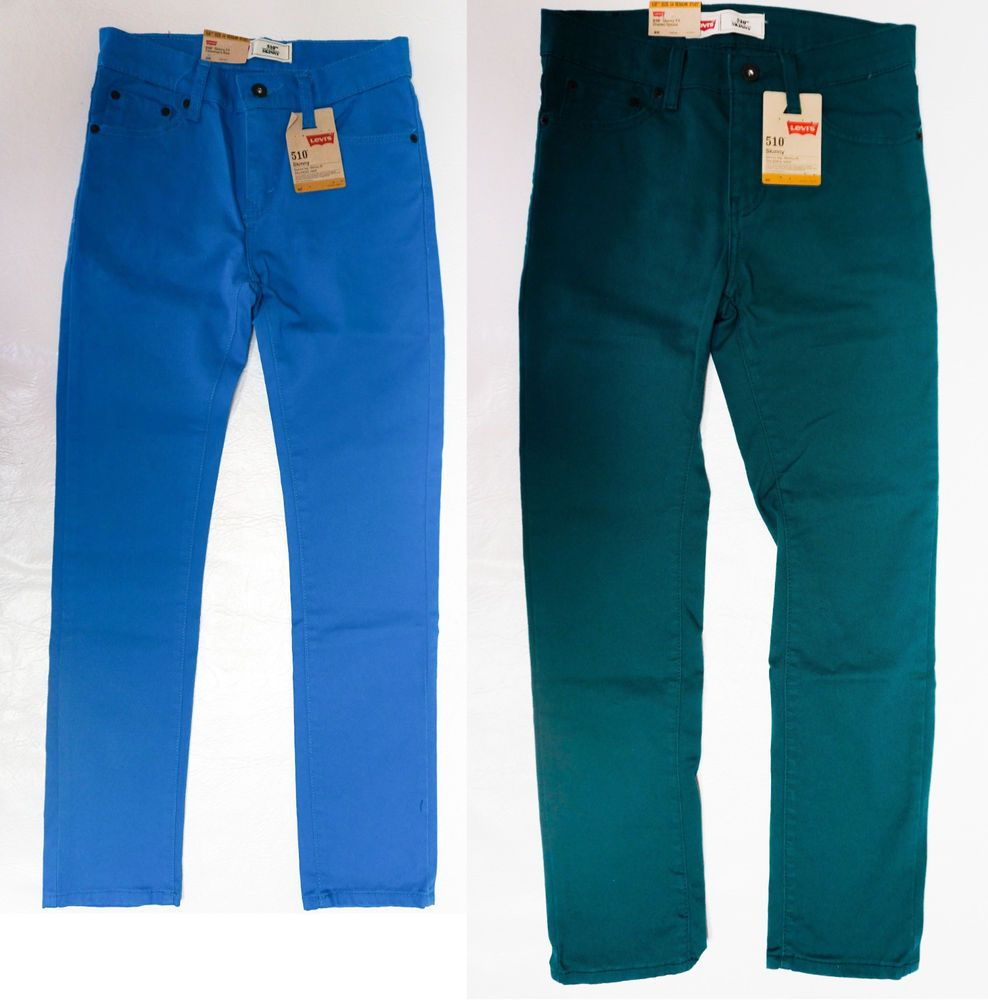 9c5cd52861a6 Levis Boys 510 Skinny Fit Skinny Leg colored wash jeans 8 10 12 14 16 18  NEW #Levis #Slim #Everyday