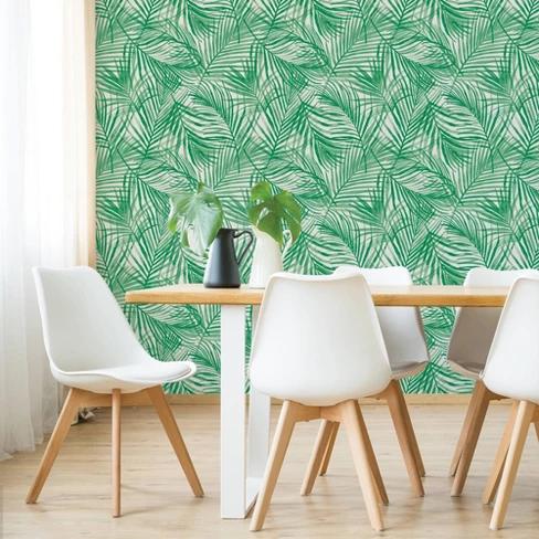 Tropical Peel Stick Wallpaper Green Opalhouse Peel And Stick Wallpaper Tropical Wallpaper Target Wallpaper