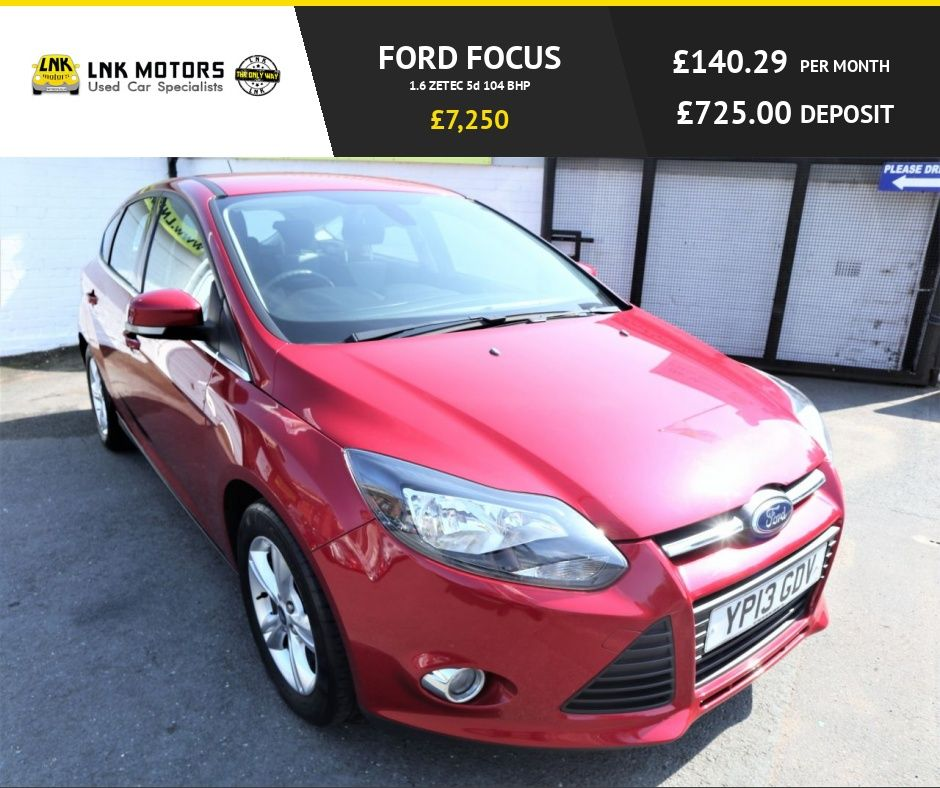 2013 13 Ford Focus 1 6 Zetec 5d 104 Bhp One Previous Owner F S H Free Nationwide Warranty Only 24500 Miles On Used Ford Used Ford Focus