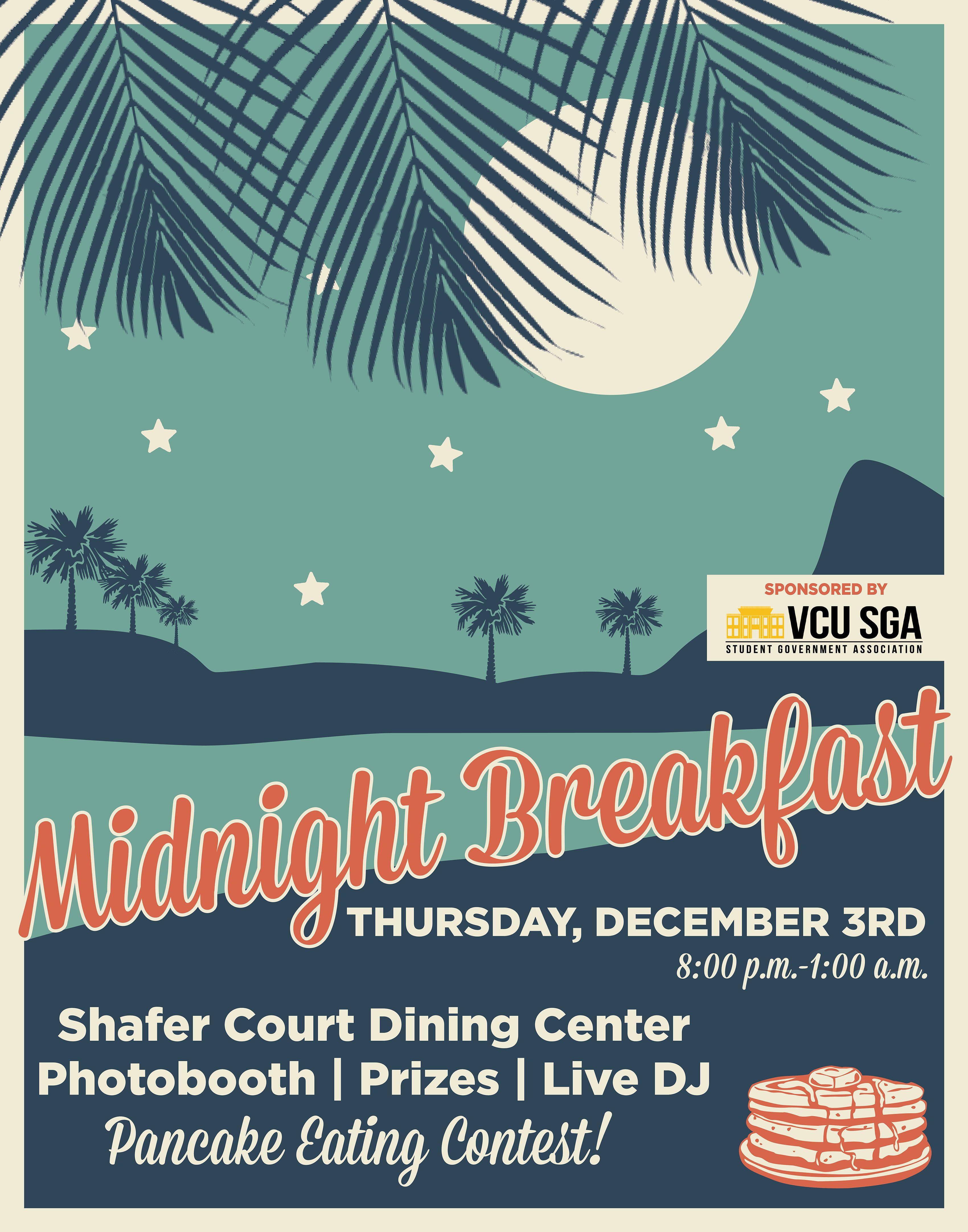 Midnight Breakfast Event Poster for VCU Dining Services | My ... for Creative Event Posters  173lyp
