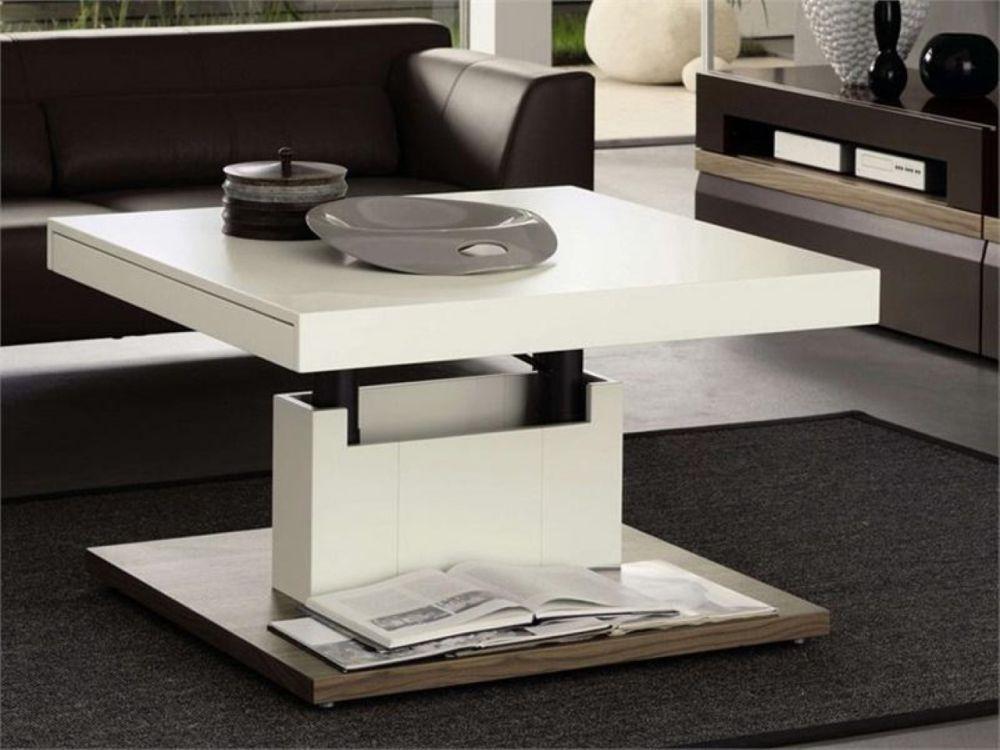 Adjustable height coffee table ideas meja