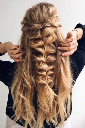 Pin By Halli Burbidge On Headband Haarband Opgestoken Hair Styles Long Hair Styles Braided Hairstyles