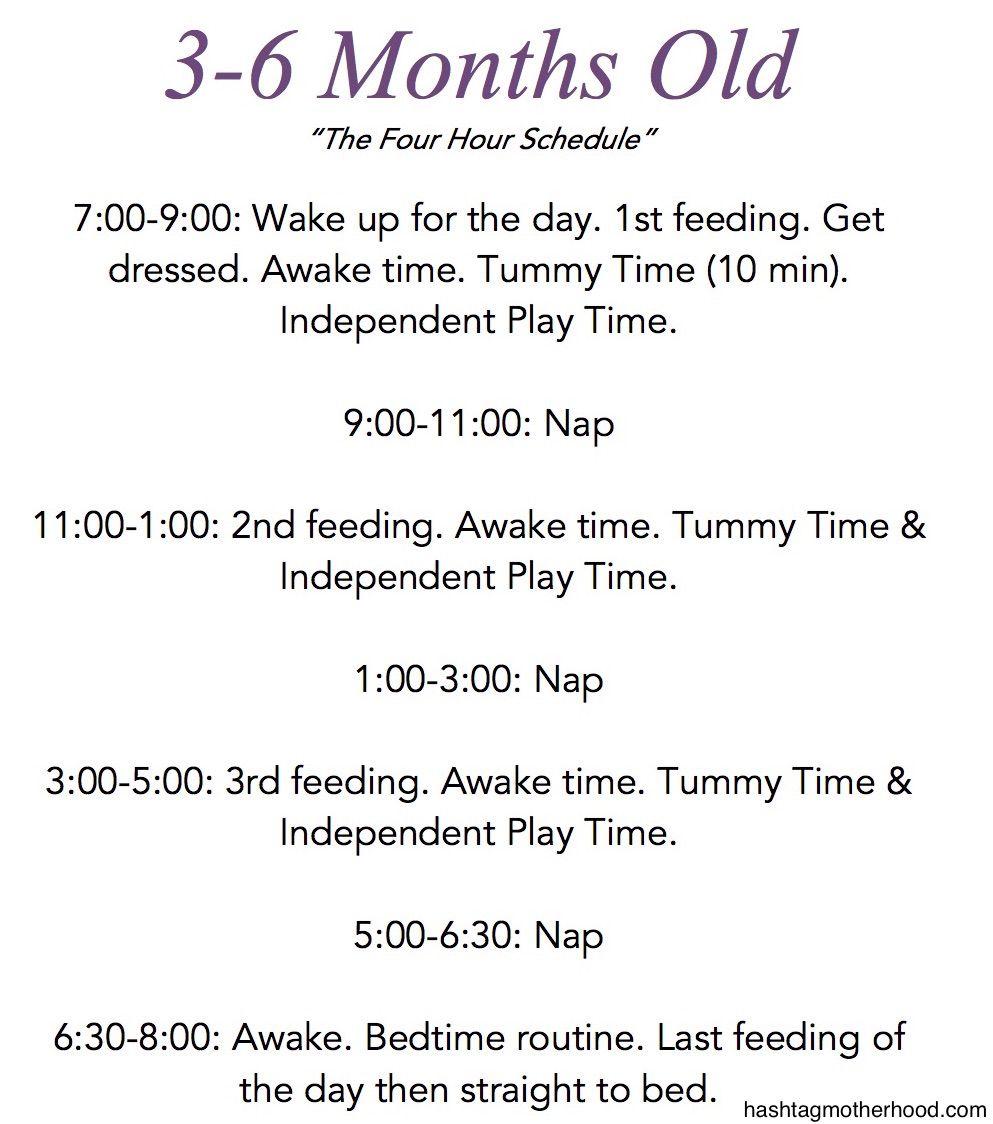 birth to 6 months baby schedule | baby l | pinterest | baby schedule