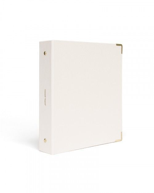 Pearl Bookcloth Mini 3 Ring Binder