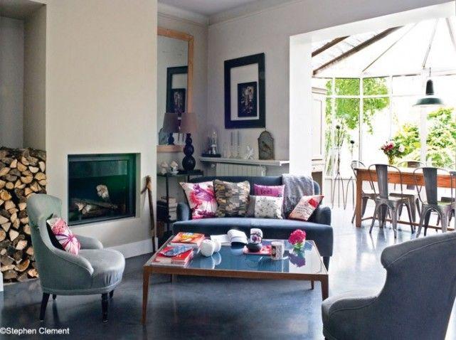 petit salon avec cheminee salon cosy pinterest petit salon salon et salon avec chemin e. Black Bedroom Furniture Sets. Home Design Ideas