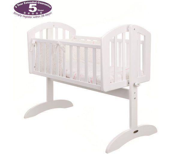 Buy Obaby Sophie Swinging Crib Mattress and Pink Set White at