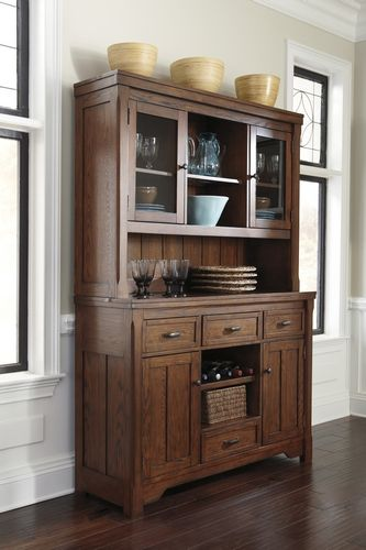 D599 81 Signature By Ashley Chimerin Dining Room Hutch Medium Brown Sandy Supers
