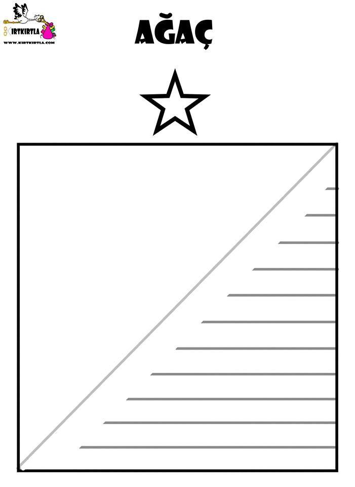 Cam Agaci Origami Kagit Katlama Okul Oncesi Etkinlik 3d