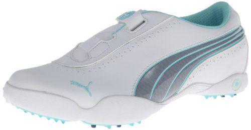 Puma 2014 Lady Sunny Strap Golf Shoes White-Tradewinds-Aqua Splash