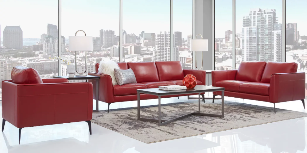Sofia Vergara Brazil Red 3 Pc Leather Living Room In 2020 Living Room Leather Living Room Sets Furniture Living Room Pieces #rooms #to #go #living #room #sets #leather