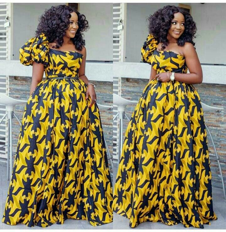 Beautiful Ankara Ball Gown African Inspired African Fashion