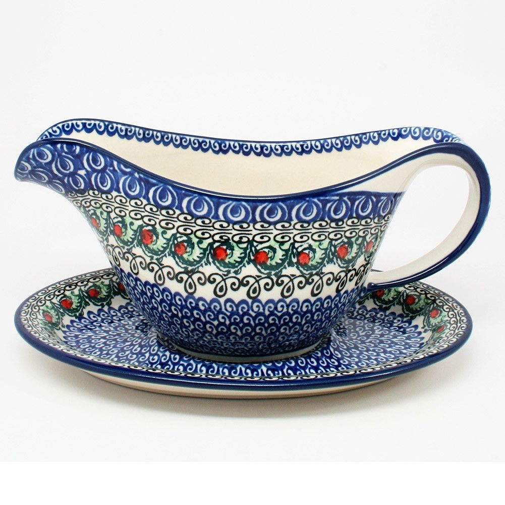 Merveilleux Gravy Boat #1624 | Polish Pottery From Polish Kitchen Online