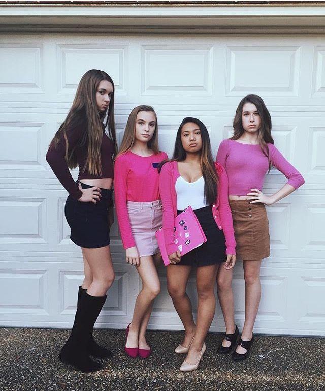 Mean Girls Group Teen Halloween Costume Easy Quick Fun Cute ...