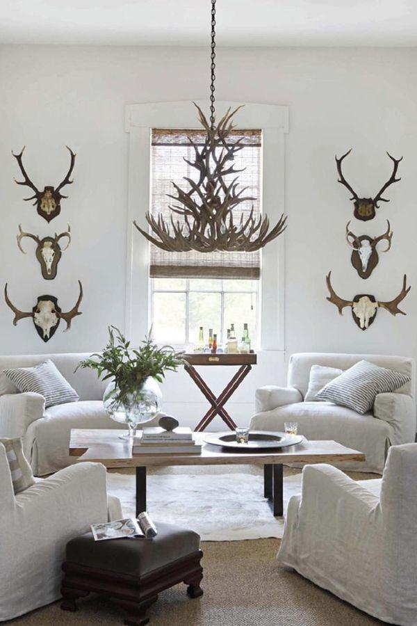 Lagom Living 3 Ways To Add The Swedish Trend At Home Travelshopa Living Room White White Living Room Home Deer antler living room decor