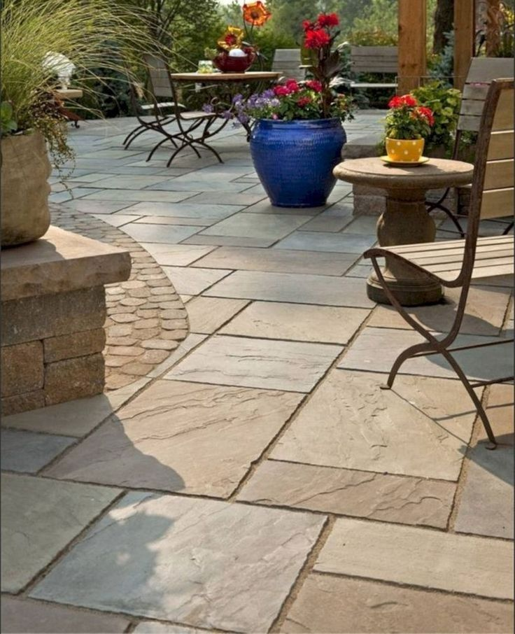 28 Top Stone Patio Design Ideas For Your Small Backyard