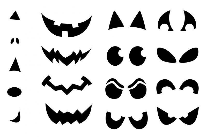 Wunderbar Halloween Kürbis Gesichter Vorlagen Bilder ...
