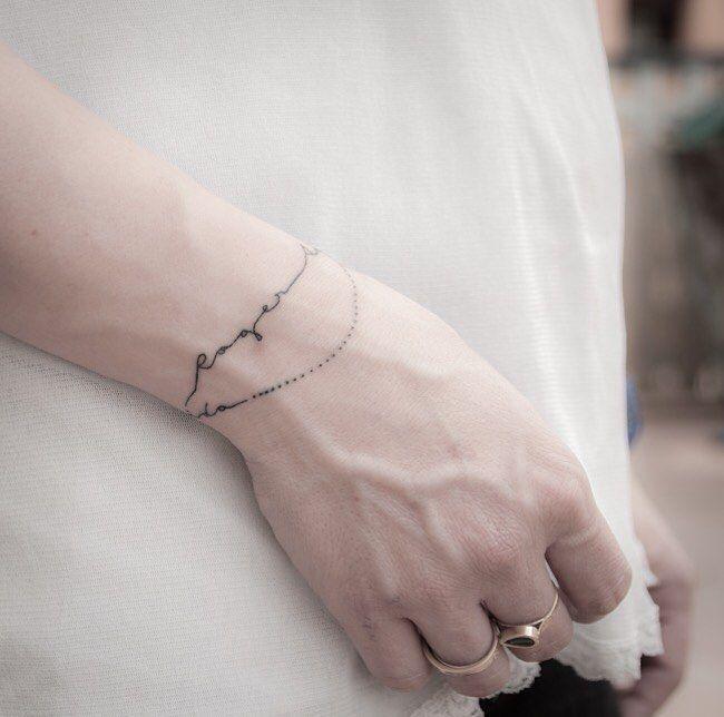 Polsera molt fina polsera pulsera bracelet tatuaje tattoo