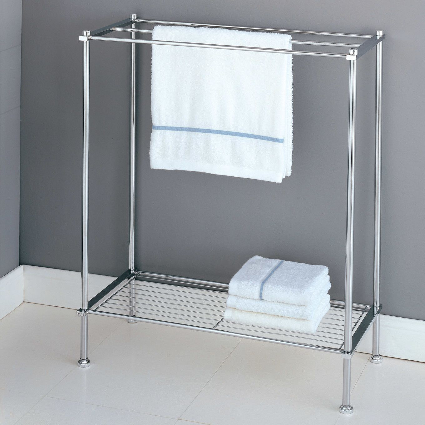 Bon Resemblance Of Stylish Free Standing Towel Racks For Outstanding Bathroom  Ideas