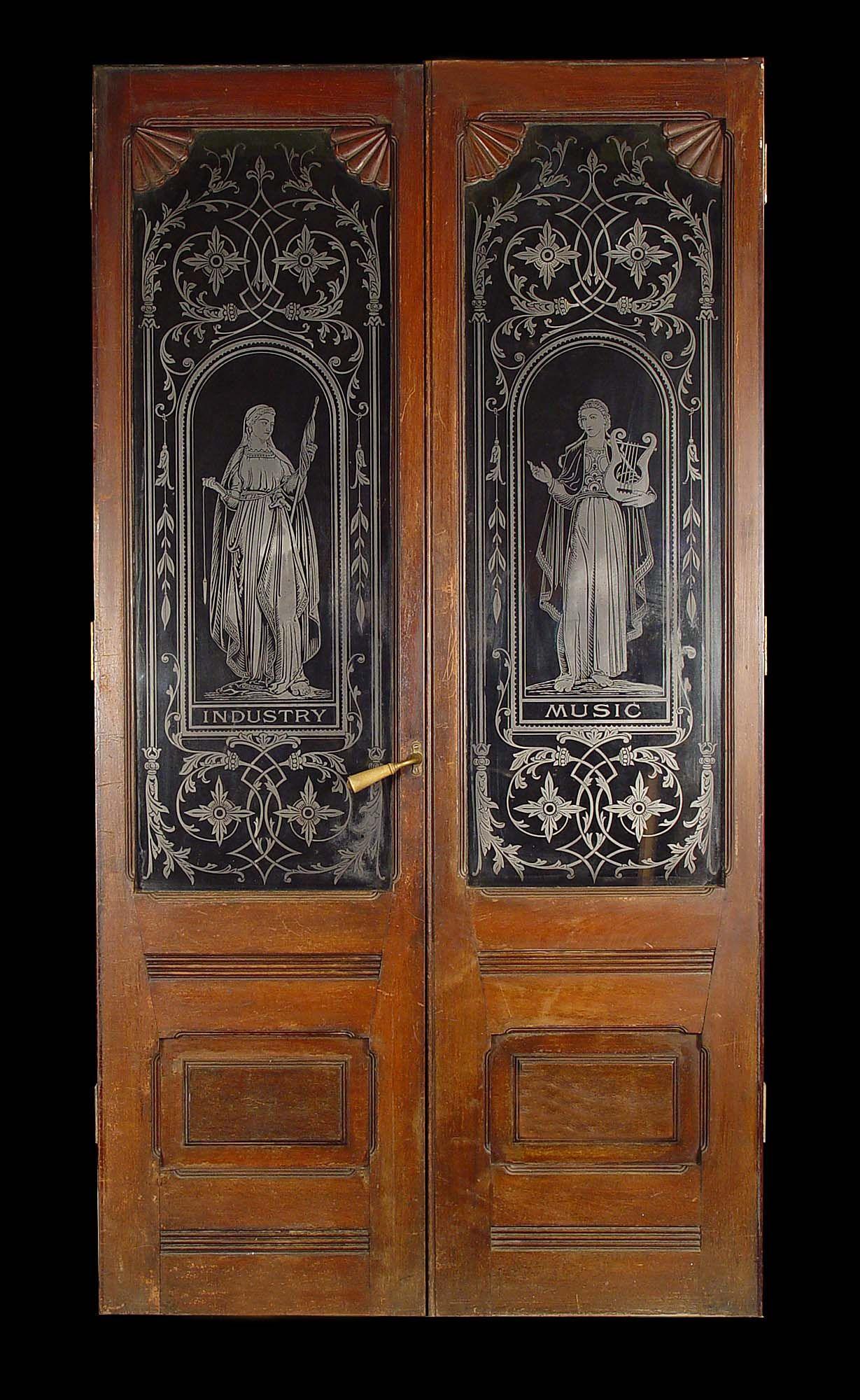 antique etched doors - Antique Etched Doors Etched Glass Pinterest Doors, Glass And