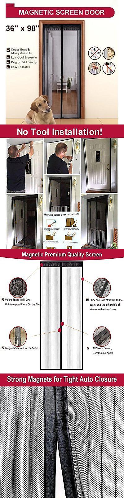 Screen Doors 180968: Aloudy Magnetic Screen Door Fits Doors Up To .