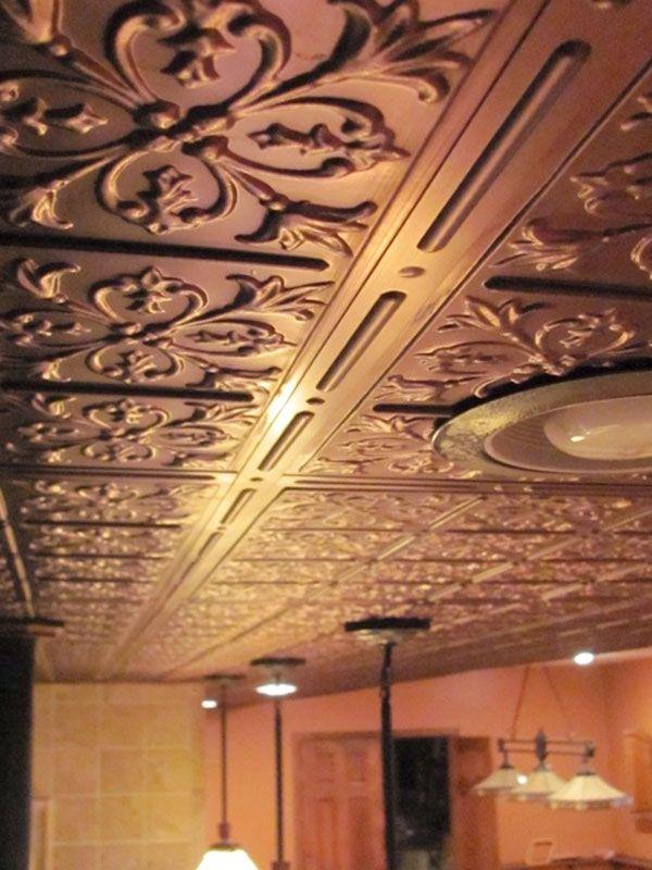 Bistro Ceiling Tile Faux Bronze
