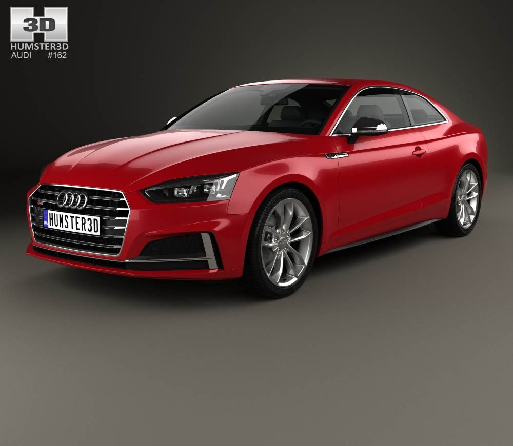 Audi S5 Coupe 2017 3d Model From Hum3d.com.