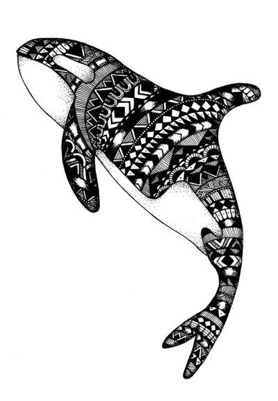 Killer Whale Art Print by Emma Barker | Silhouette | Pinterest ...