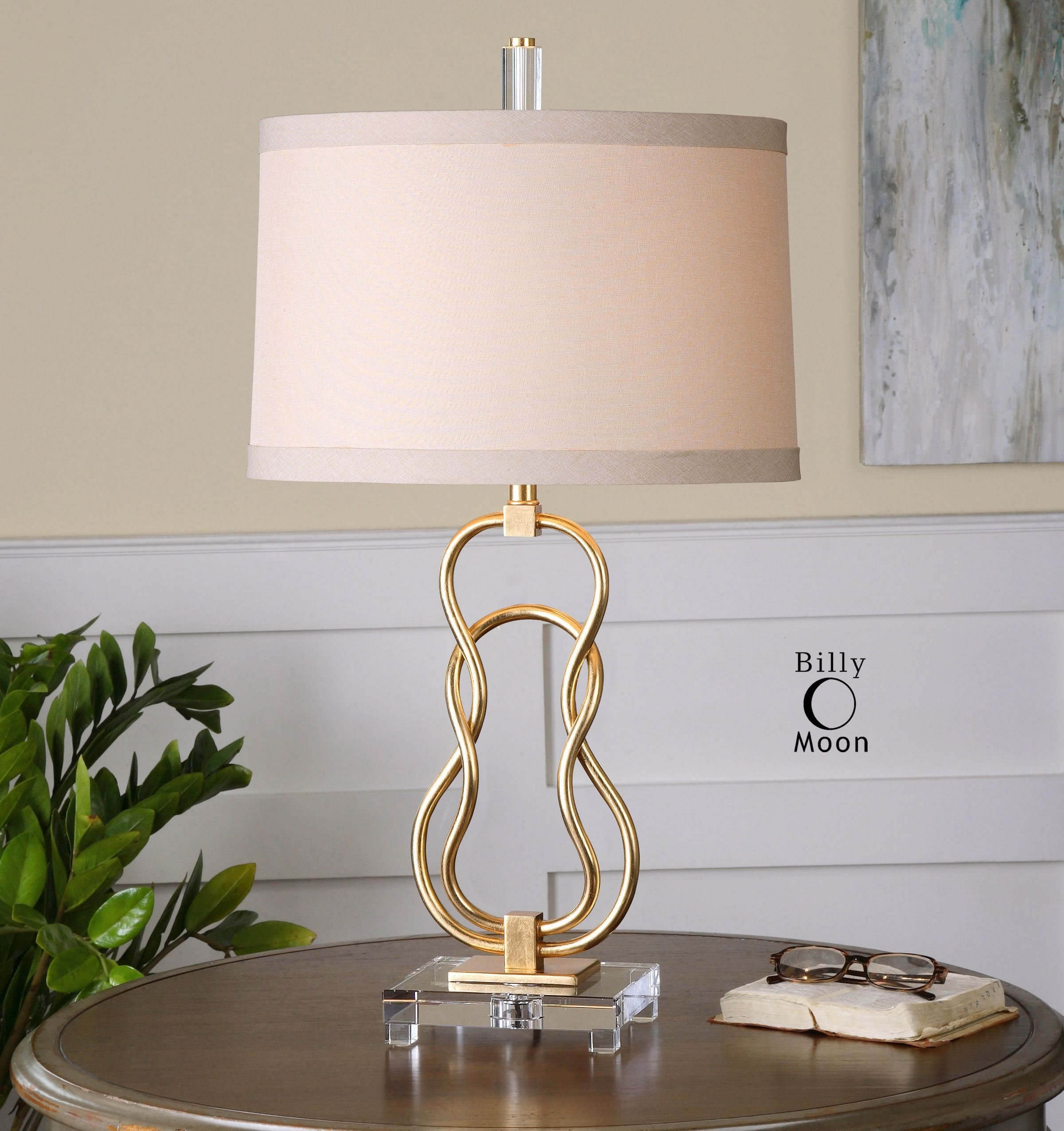 Uttermost Adelais Curved Metal Lamp Small Lamp Shades Metal Lamp Metal Table Lamps