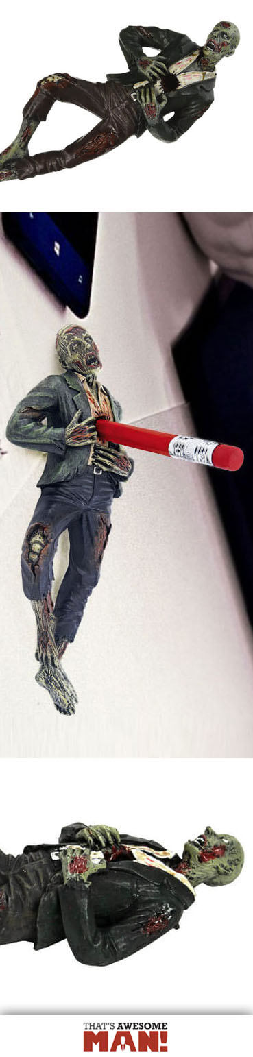 Impale zombies from the comfort of your office.  http://thatsawesomeman.com/zombie-desk-accessory/