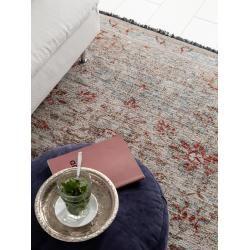 Photo of benuta flat weave carpet Ian Gray / Blue 240×390 cm – vintage carpet in used look benuta
