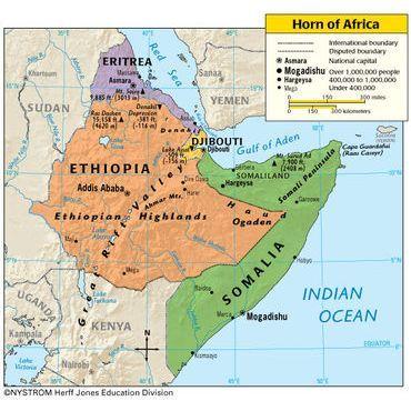 horn-africa-map-maps-africa African diaspora Pinterest Africa map - fresh yemen in world map