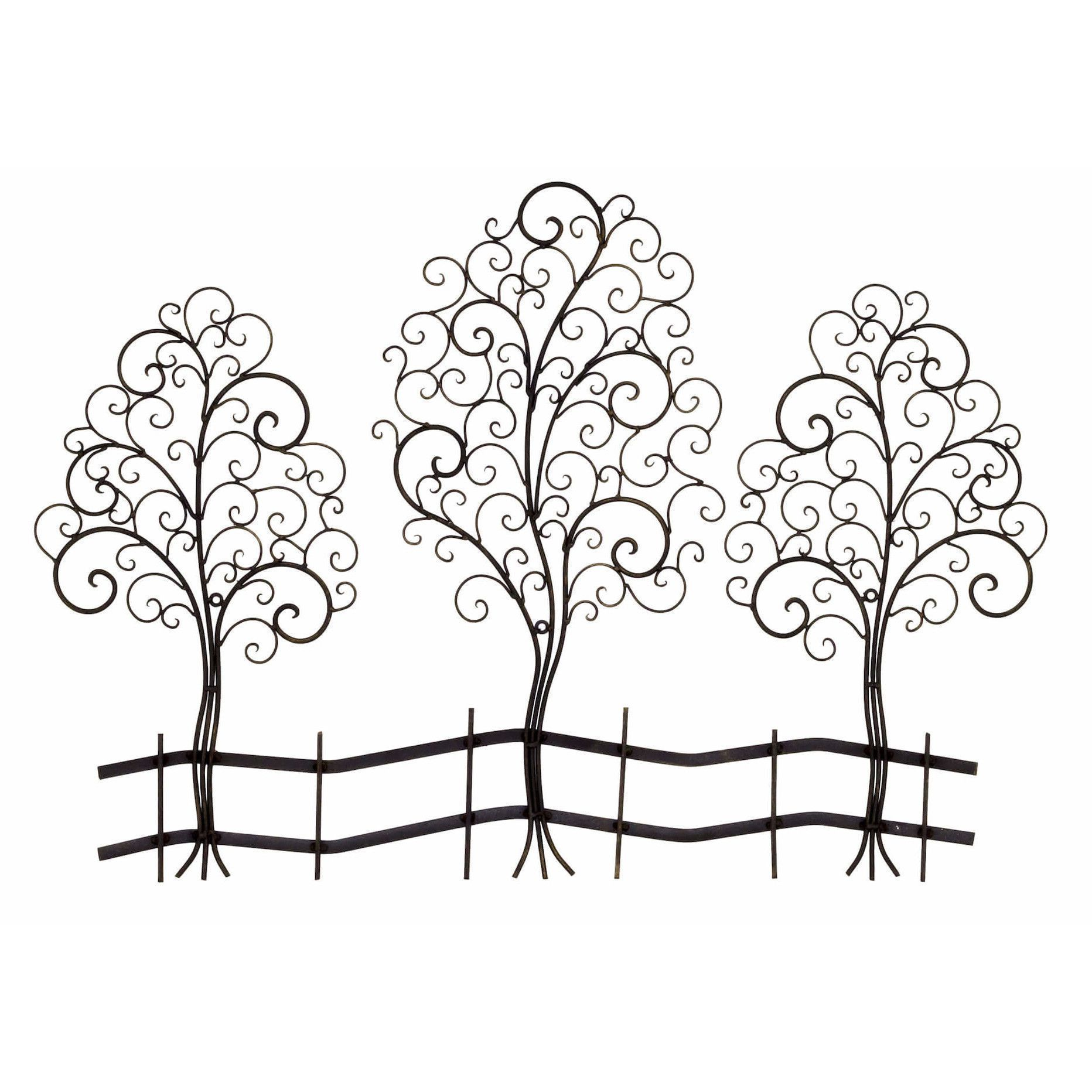 Bayaccents metal tree sculpture wall decor u reviews wayfair