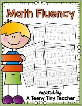 Math Fluency Assessments | Teaching - Math | Math, Mastering math ...