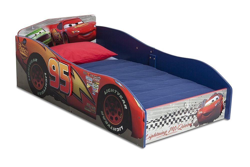 Delta Children Wood Toddler Bed Disney Pixar Cars Brand New