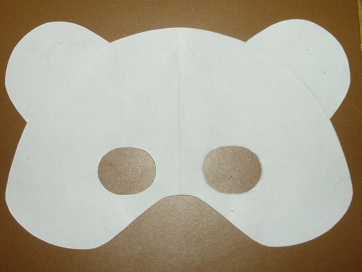 early play templates: Teddy Bear Mask templates to print out | Teddy ...