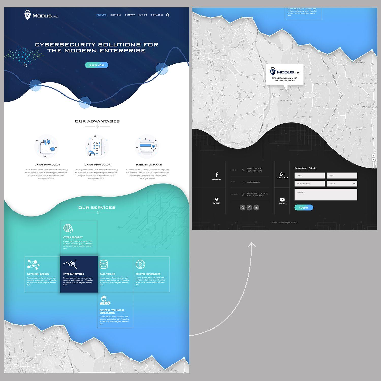Web Design By Ancineha For Modus Inc Design 16794222 Affiliate Affiliate Design Modus Ancineha In 2020 Web Design Flat Illustration Design
