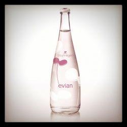 The new Courrèges-designed Evian bottle