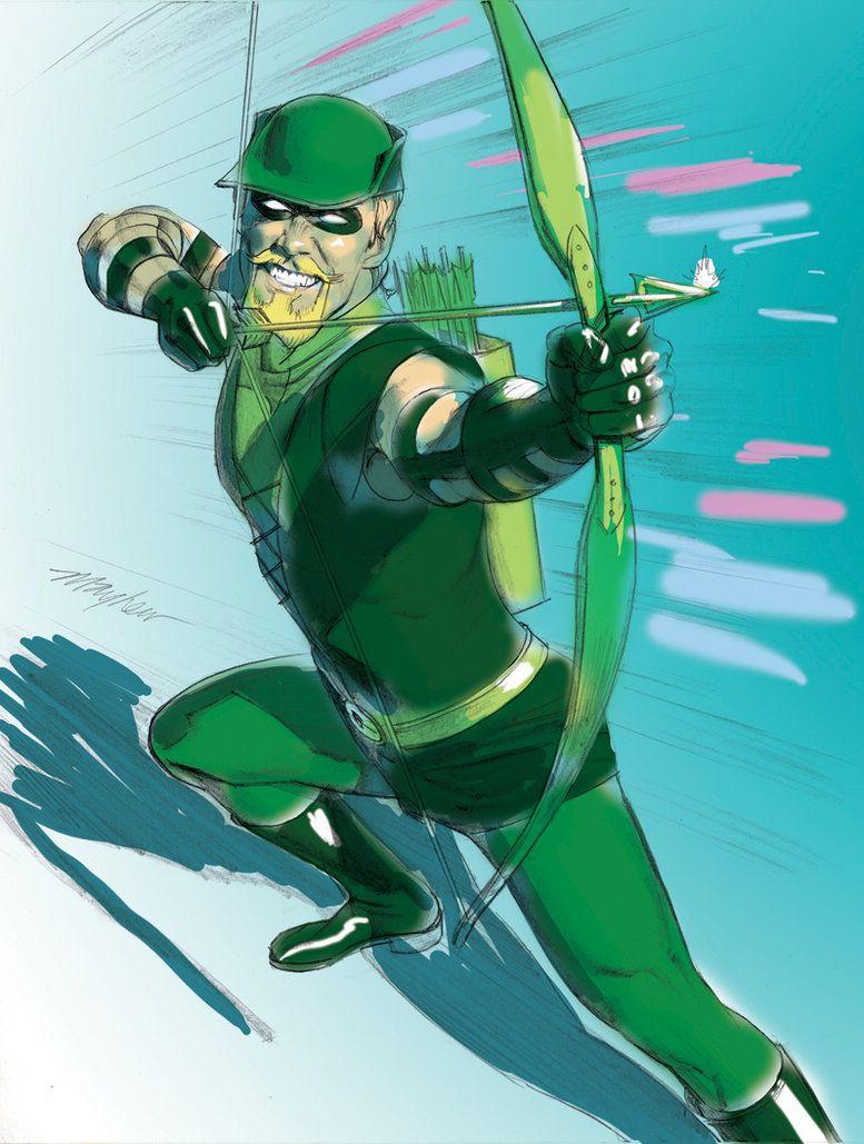 зеленая стрела арты проведём