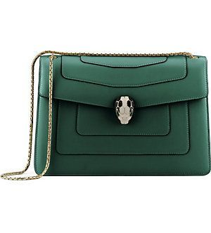 BVLGARI Serpenti Forever leather shoulder bag   Best Leather ... ac9183a72d8