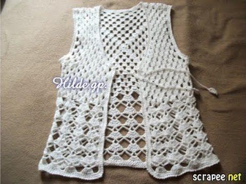 Dos chalecos tejidos a crochet muy f ciles de hacer paso a - Como se hace ganchillo ...