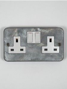 13 Amp Double Single Wall Socket 1 2 Gang Electric Wall Plug Socket or FACEPLATE