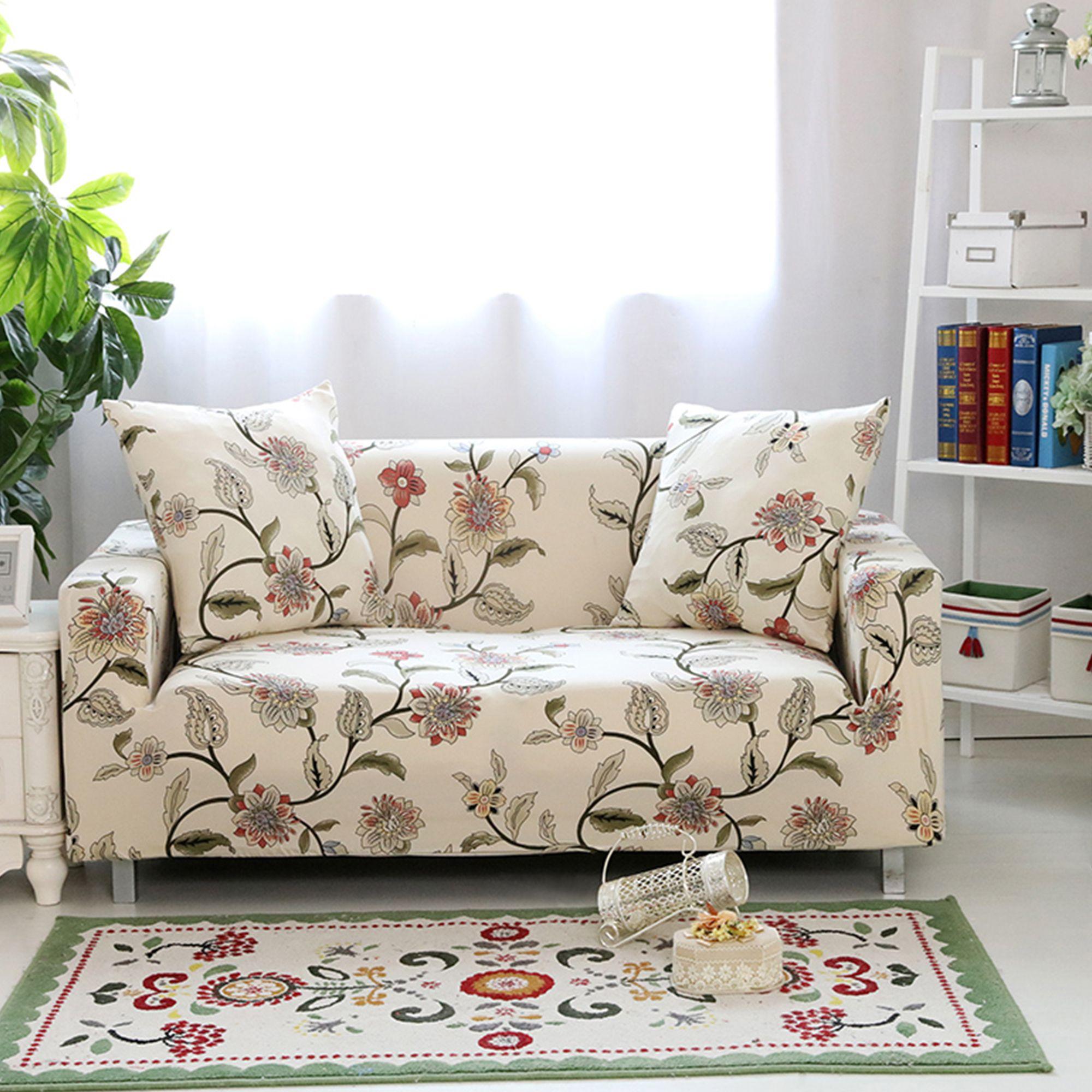 Super Stretch Stylish Box Cushion Sofa Slipcover In 2021 Couch Covers Sofa Covers Slip Covers Couch