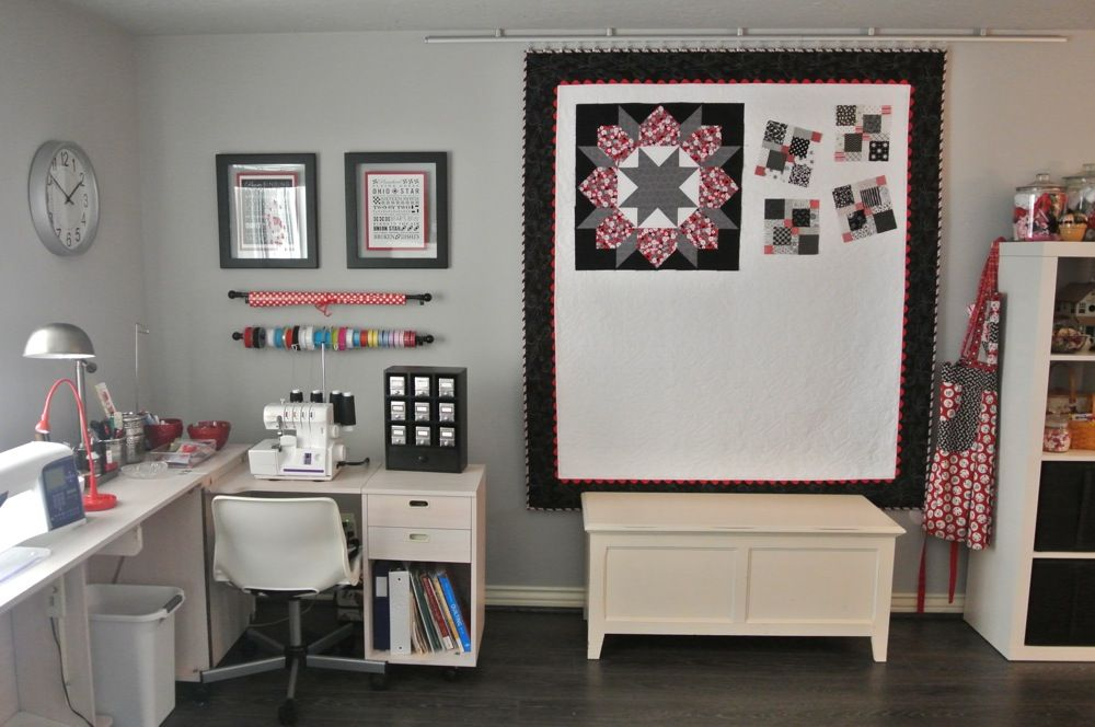 Design Wall Quilt Held Up With Ikea Rail And Clip System. Love This Idea!