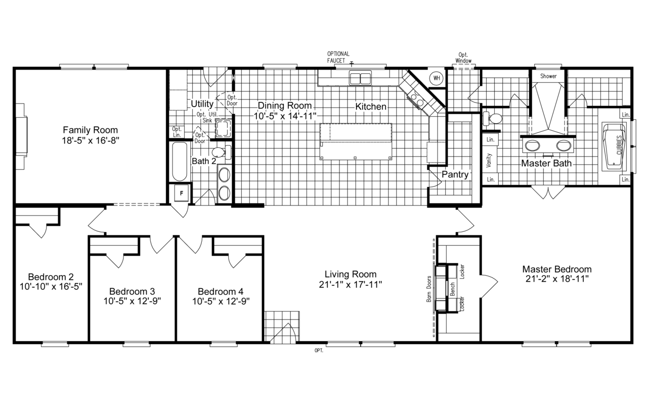 The Magnum Home 76 Is Beautiful Value Packed Manufactured Home By Palm Harbor Manufactured Homes Floor Plans Modular Home Floor Plans Mobile Home Floor Plans