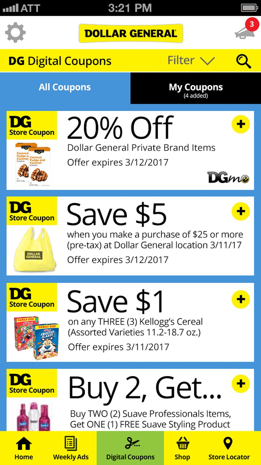 Dollar General Ios Shopping App Apps Dollar General Dg Digital Coupons Digital Coupons