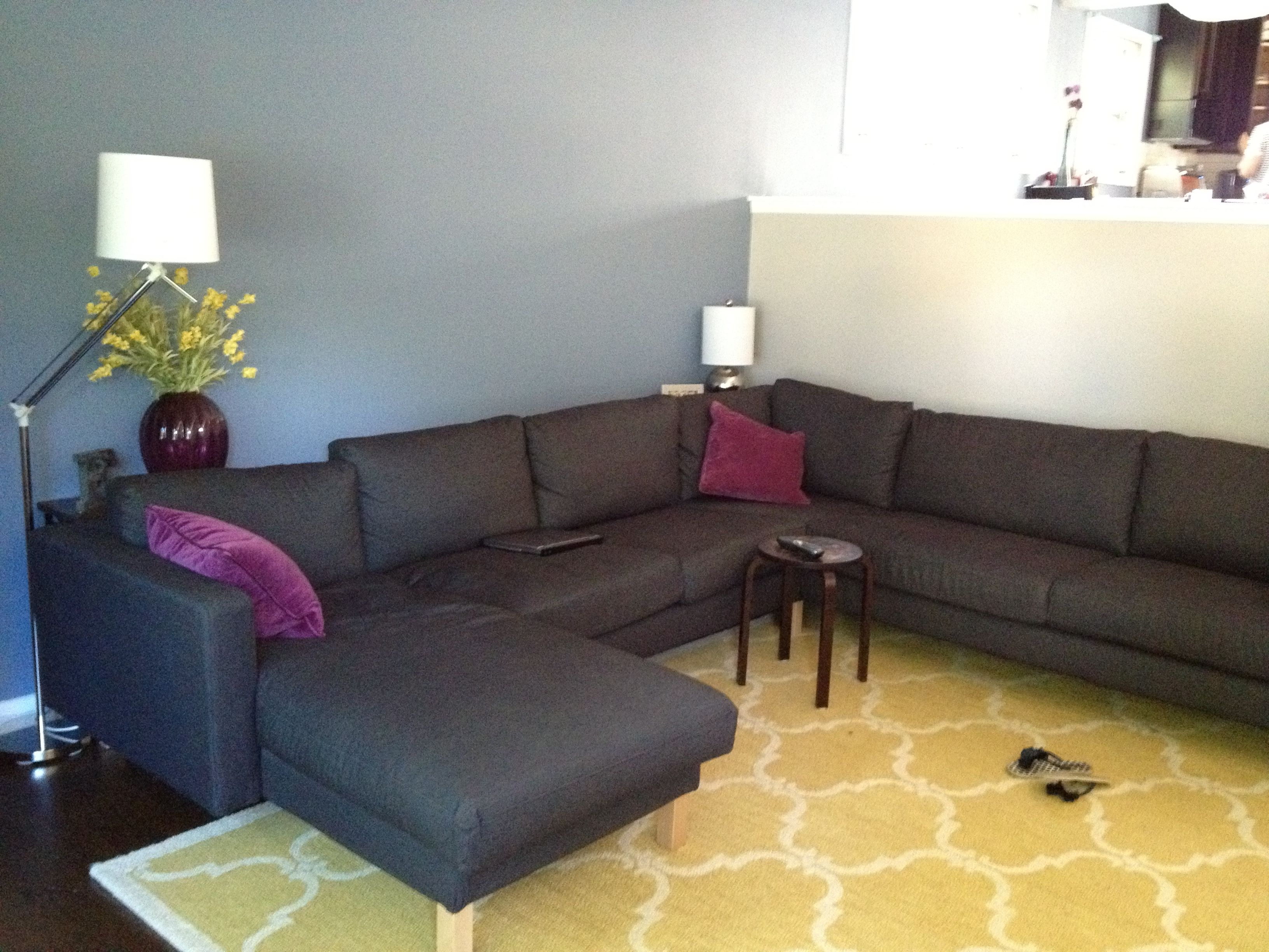 Diy Behind The Couch Distressed Shelf Sofa Floor Lamps Sectional Sofa Sectional