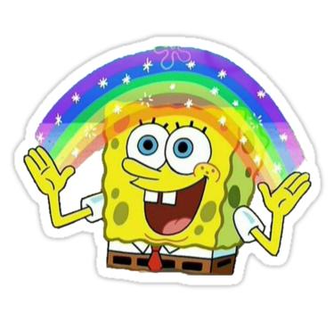 'Spongebob' Sticker by Kacy Lynne in 2020 | Meme stickers ...