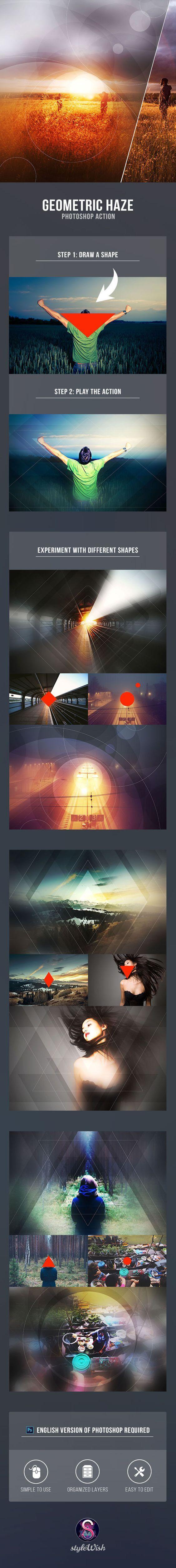 Geometric Haze Photoshop Action - Photo Effects Actions: