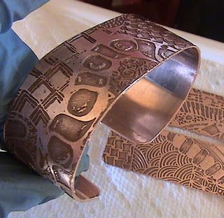 Step by Step: Making a Copper Etched Cuff Bracelet by Deborah Read